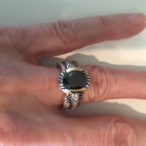 Beautiful ring with black stone